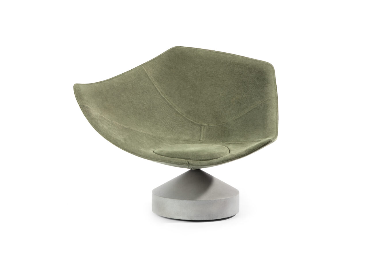 Jangada a Contemporary seat designed by emmanuel Babled and Upholstered with Rogers and Goffigon