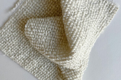 <h3>Egg Cups</h3>Available in two colour ways ITEM# 930006-01  & 93006-02 CONTENT 100% Wool APPROX WIDTH 160 cm